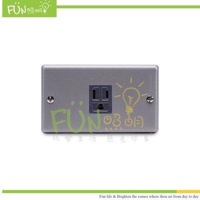 復古工業風 Panasonic 國際牌 金屬面板  接地單插座 WNF1101 灰色