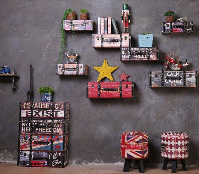 『格倫雅』復古工業風網吧墻面裝飾品酒吧餐廳墻上奶茶服裝店壁掛創意置物架^23696