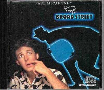 保羅麥卡尼Paul McCartney / Give My Regards To Broad Street(美版)