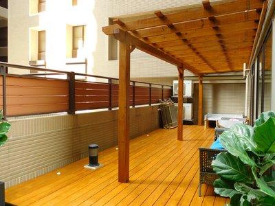 南方松 採光罩 遮雨棚 雨遮 遮陽棚 木棚架 陽台 露台 屋頂 庭院【園匠工坊】免費估價