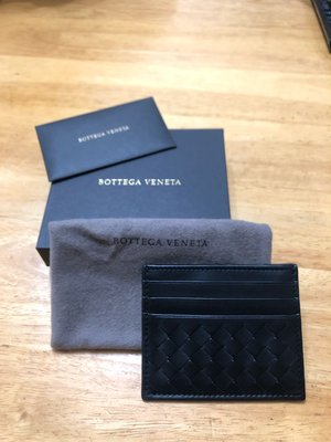 BOTTEGA VENETA CARD CASE - BLACK COLOR