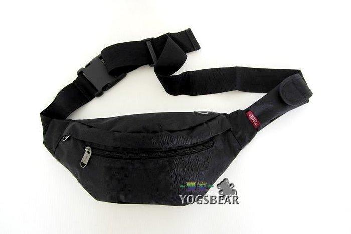 【YOGSBEAR】B 男女適用 防水 側背包 單肩背包 腰包  單車包 後背包 臀包 防扒腰包 腳踏車包720 黑