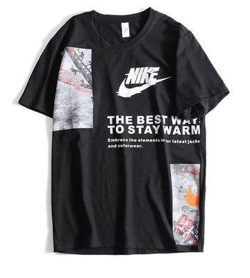 『Fashion❤House』夏季薄款男士休閒運動條文T恤時尚潮流個性圓領短袖短T