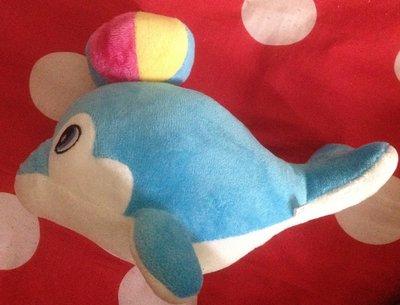 全新頂球海豚-藍色 娃娃公仔長約26公分