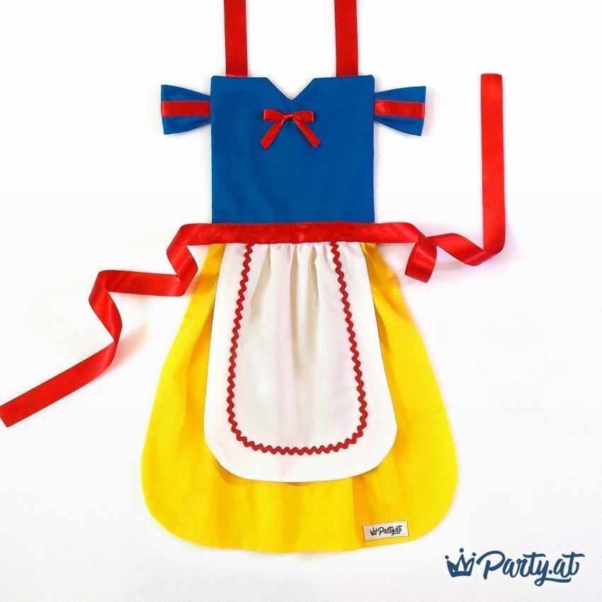 **party.at** 白雪公主 兒童圍裙 2-8Y 萬聖節服裝 聖誕節 冰雪奇緣 小紅帽 迪士尼 小美人魚 長髮公主