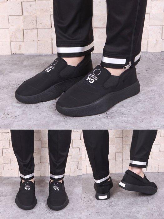 【Cheers】 Adidas Y-3 Tangutsu 黑 黑魂 編織 全黑 男鞋 懶人鞋 編織 BC0913