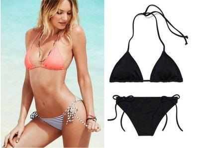 全新 Victoria's Secret 維多利亞的秘密 二件式比基尼 泳衣 泳裝  黑色一套 S號