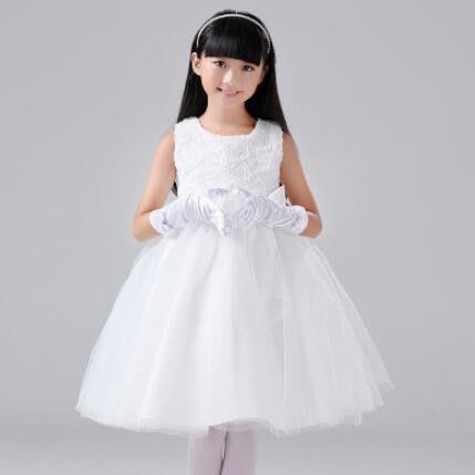 洋裝 童裝 婚紗禮服花童禮服 連身裙 中大童公主裙 禮服裙 主持人蓬蓬裙 生日禮物—莎芭
