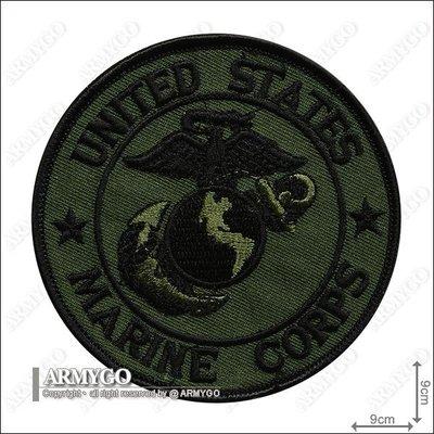 【ARMYGO】美軍海軍陸戰隊 部隊章 (綠色版)