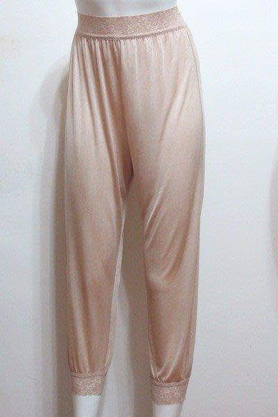 【絲絲入扣】日單~100% 蠶絲高腰蕾絲八九分燈籠褲 衛生睡褲