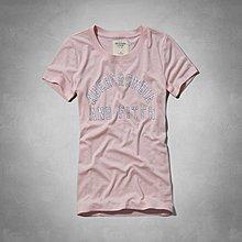 Maple麋鹿小舖 Abercrombie&Fitch * AF 淺粉色印花短T-COBY TEE * ( 現貨S號 )