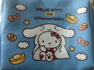 玟玟珍藏區— 7-11福袋 Hello Kitty 雙拉鍊化妝包 大耳狗款