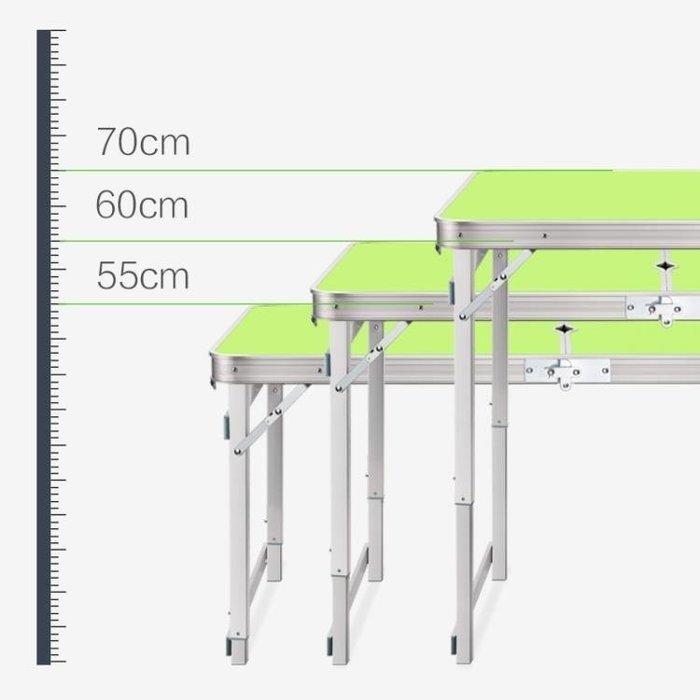 BELOCO 藍語折疊桌擺攤戶外折疊桌子家用簡易折疊餐BE655