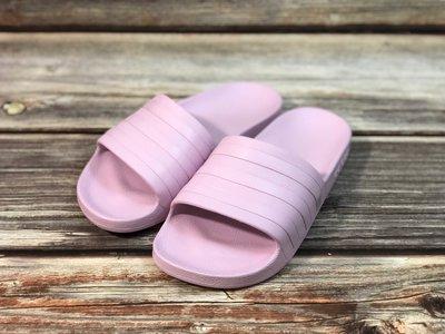 [麥修斯] ADIDAS ADILETTE AQUA 拖鞋 防水 輕量 無海綿 粉紫 女款3 F35547