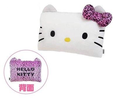 GIFT41 土城店 市伊瓏屋 Hello Kitty 凱蒂貓 豹紋系列 頭型小抱枕 4713909231227