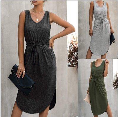 寶島小甜甜~Women's clothing v-neck pure color irregular xin qing waist