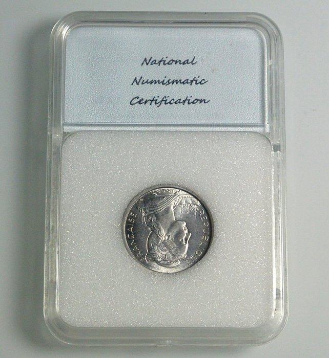 評級幣  法屬索馬利蘭 1959年 1 FRANC  鑑定幣 NNC MS67