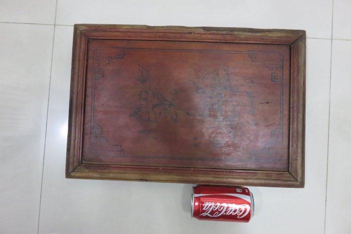 【讓藏】早期收藏老桶盤,,檜木湯盤,,榫接,,,31.8*47.6*3,,下標就賣