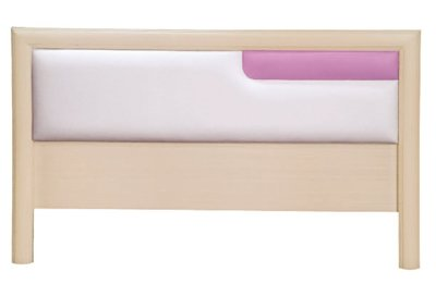 【南洋風休閒傢俱】精選時尚床片   雙人床頭片- 彩虹5尺床片 粉白 CY106-36