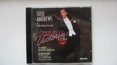 Victor Victoria 雌雄莫辨 自藏音樂劇CD 茱莉安德魯斯主唱 Original Broadway Cast