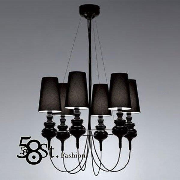 【58街】義大利設計師款式「獎盃吊燈,6燈款式」複刻版。GH-109
