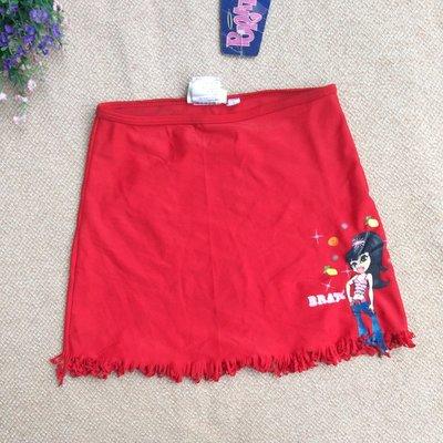 XH5100 少女款比基尼  外罩泳裙 裙子 8號 單面平量腰約25Cm 裙長約28cm小髒參圖 此件腰無彈需自換鬆緊帶