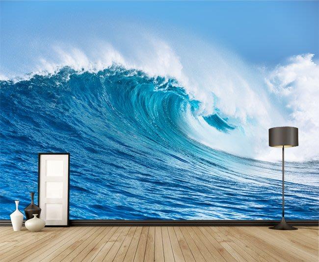 客製化壁貼 店面保障 編號F-698 海浪美景 壁紙 牆貼 牆紙 壁畫 背景牆 星瑞 shing ruei