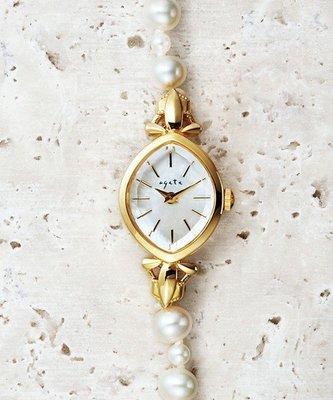 (已售出)收藏出清 日本Agete 專櫃正品手錶 時計 淡水珍珠珠寶碗錶 Agete/Nojess