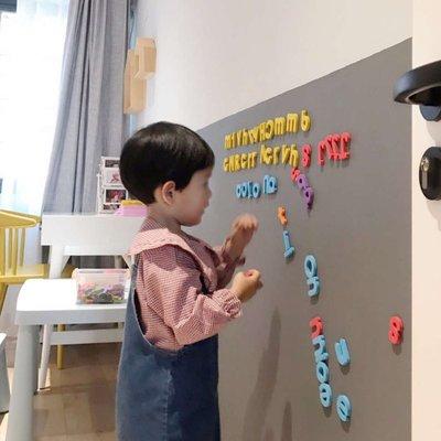【免運】清朗磁性黑板墻貼雙層合一兒童房...