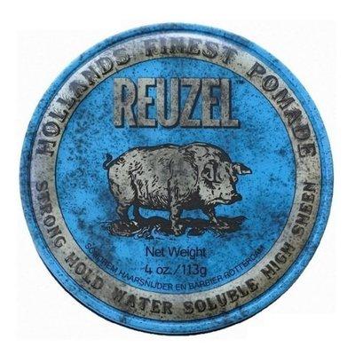 便宜生活館【造型品】REUZEL 藍豬 髮油 豬油 強力定型款 水洗式髮油 4oz(113G)另有紅豬/粉紅豬