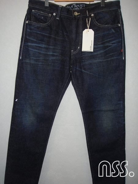 特價「NSS』BEDWIN 11aw4183 Charlie Tapered Fit Denim Pants 藍色 水洗 窄版 牛仔褲 潑漆 L 日本製
