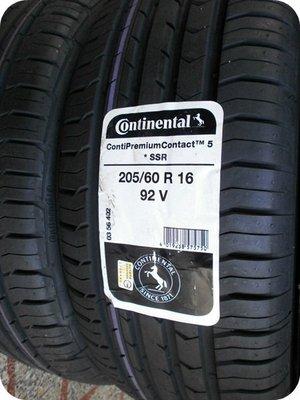 ***天下第一輪***Continental 德國馬牌 CPC5 SSR 失壓續跑胎 205/60/16 完工價5300