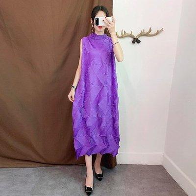 無袖洋 裝 連身 長裙-鑽石壓褶純色直筒女裙子8色73yf8[獨家進口][米蘭精品]