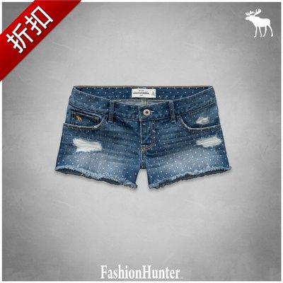 折扣【FH.cc】牛仔熱褲 a&f low rise shorts 可愛點點 HCO