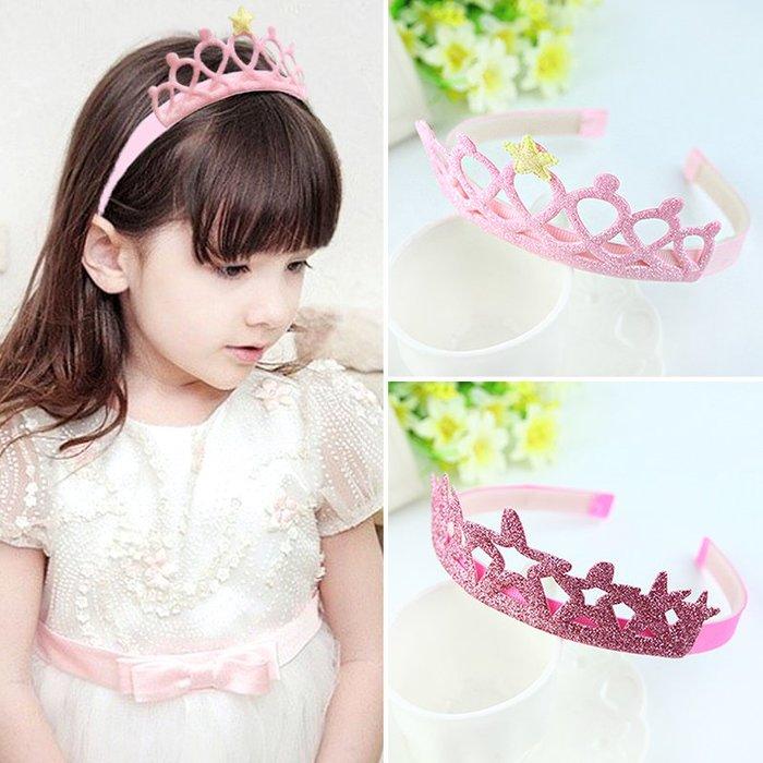 [C.M.平價精品館]現貨出清特價/美麗小公主閃亮星星皇冠髮箍