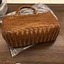╭☆包媽子店☆比利時 Dragon Diffusion 法式皮編織包復古牛皮編織籃子單肩手提包((到貨))