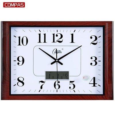 哆啦本鋪 客廳掛鐘表臥室辦公掛表靜音簡約日歷時鐘大號石英鐘萬年歷 D655