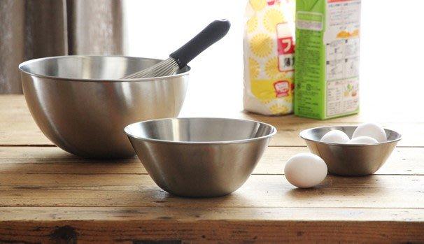發現花園 日本選物~日本製 柳宗理 不鏽鋼 霧面 調理盆 沙拉碗 ~ 19 公分