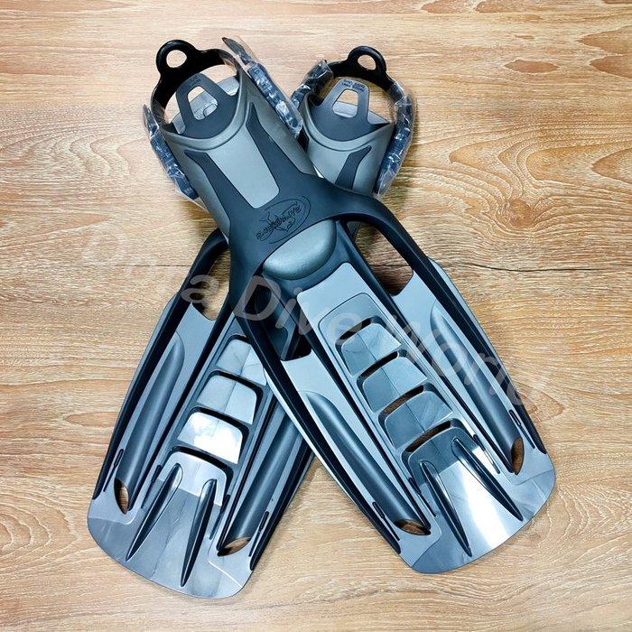 ?24H快速出貨?現貨  ?金屬灰潛水蛙鞋 浮潛 深潛 水肺裝備 自由潛水 腳蹼 (( 出清品 ))