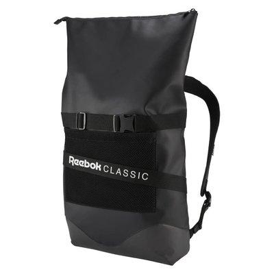 =CodE= REEBOK CLASSIC OPUS STRAP BACKPACK 反折防水後背包(黑) DW5616