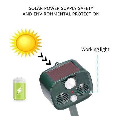 新款太陽能動物驅趕器太陽能驅鳥器 超音波驅鼠器 驅蚊器驅蟲器 驅狗驅貓驅鼠動物