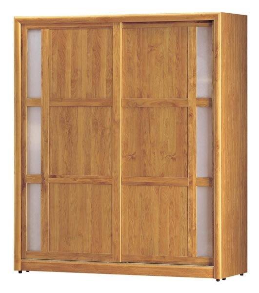 【DH】商品貨號BC24-1商品名稱普納正赤楊木實木6尺推門衣櫃(圖一)備有4尺台灣製可訂做另計。主要地區免運費