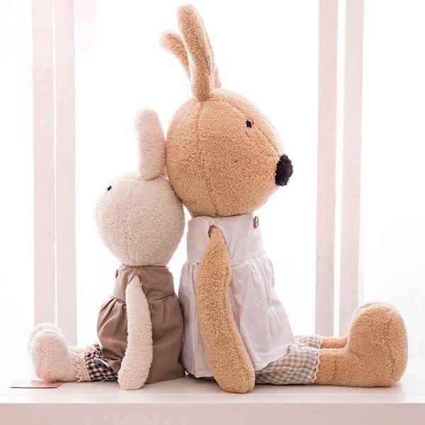 娃娃屋樂園~Le Sucre法國兔砂糖兔(韓式鈕扣裙服款)45cm450元/玩偶/桃園婚禮小物/彌月卡/彌月禮盒尿布蛋糕