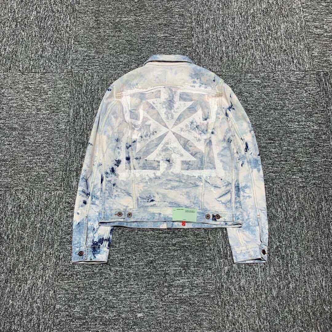 『Jewel Apparel』OFF-WHITE 20SS ARROWS 雪花 扎染 潑墨 箭頭 牛仔夾克 外套 預定