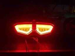 家呈機車精品 BWS 導光R6尾燈 含防盜型鐵殼 密合度百分百 贈送繼電器 四顆白鐵螺絲 台中市