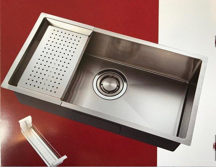 ENZIK韓國原裝進口ENA-8545不鏽鋼四方造型水槽 防蟑/防臭1.2mm厚/毛絲面