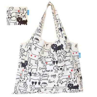 ☘小宅私物☘ 日本 Prairie Dog 設計包 (黑白狗狗) 環保購物袋 摺疊購物袋 環保袋 購物袋 現貨附發票