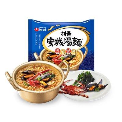 韓國 農心 海鮮安城湯麵 112g/5入(袋) 海鮮 安城湯麵 泡麵【特價】異國精品