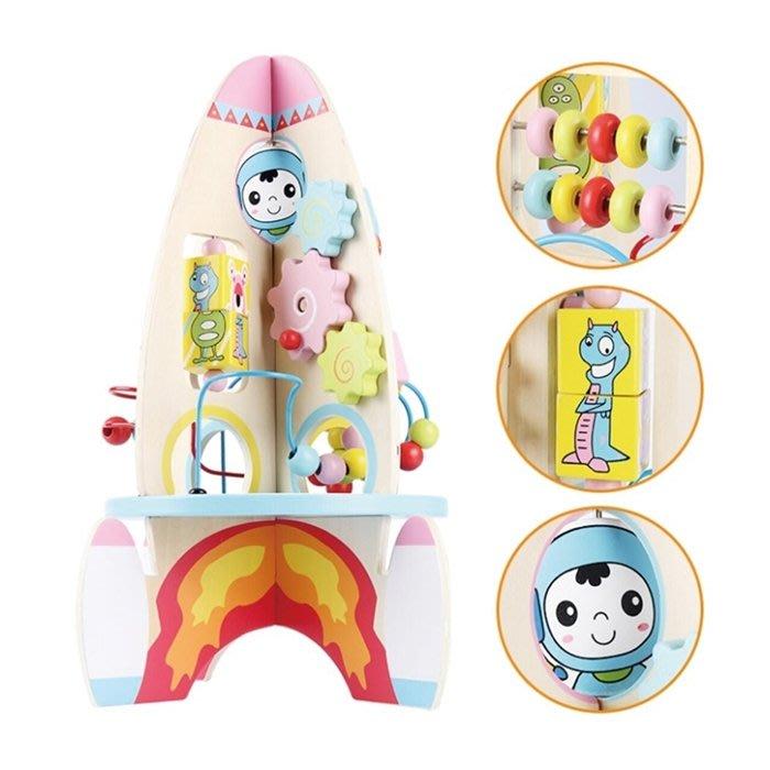 CHING-CHING親親-WOOD TOYS木製玩具組-益智火箭(MSN15057)