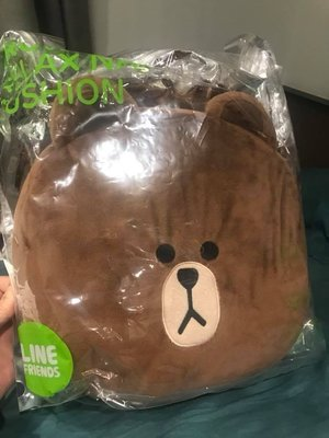 正版  LINE FRIENDS 熊大午睡枕 全新含包裝喔 靠枕 抱枕 交換禮物首選